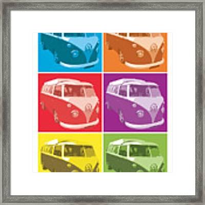 Camper Van Pop Art Framed Print
