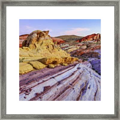 Candy Cane Desert Framed Print