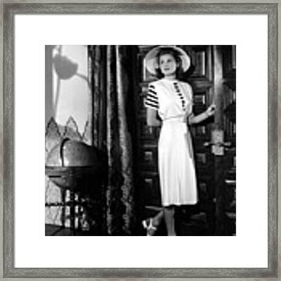 Casablanca, Ingrid Bergman Wearing Framed Print by Everett