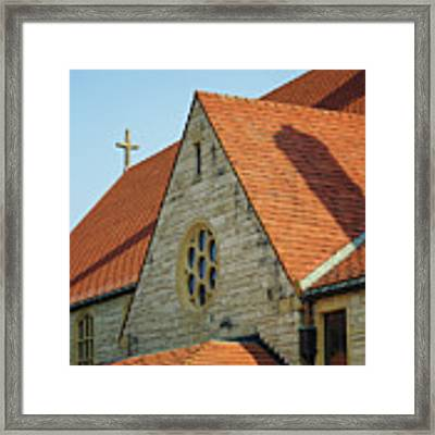 Cathedral Of The Sacred Heart In Winona Minnesota By Yearous Framed Print by Kari Yearous