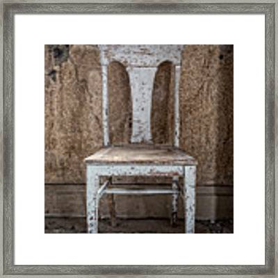 Chair In Abandoned Home In Bodie Ghost Town Framed Print by Bryan Mullennix