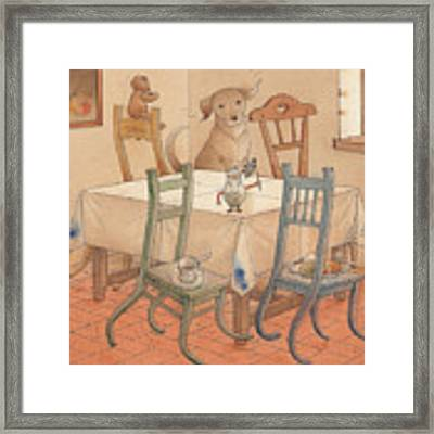 Chair Race Framed Print