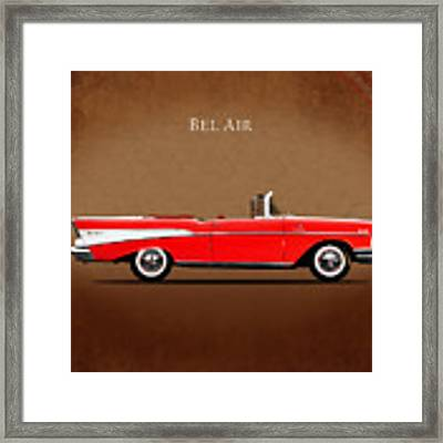 Chevrolet Bel Air Convertible 1957 Framed Print