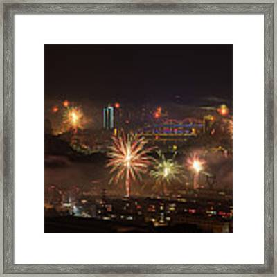 Chinese New Year Fireworks 2018 I Framed Print by William Dickman