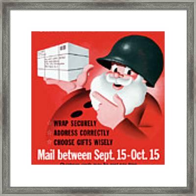 Christmas Overseas Gifts -- Ww2 Framed Print