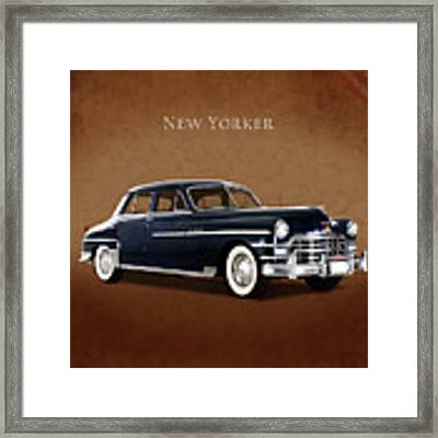 Chrysler New Yorker 1949 Framed Print