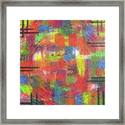 Circles Framed Print by Jacqueline Athmann