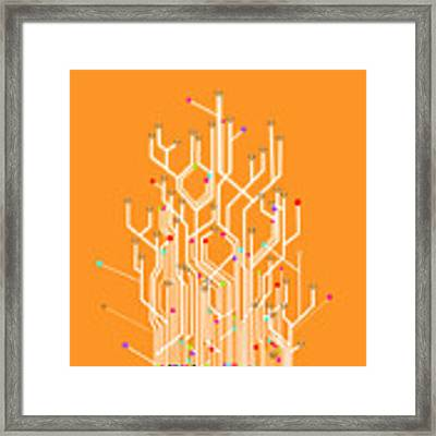 Circuit Board Graphic Framed Print
