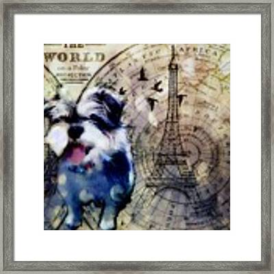 City Girl Goes To Paris Framed Print by Delight Worthyn