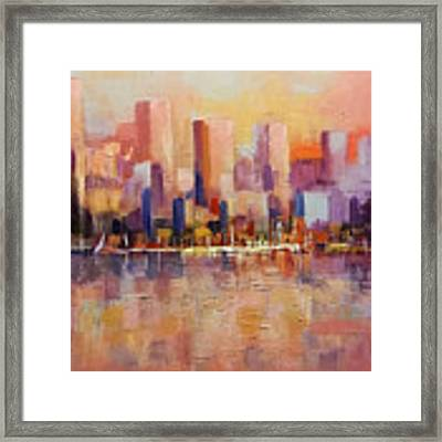 Cityscape 2 Framed Print by Rosario Piazza