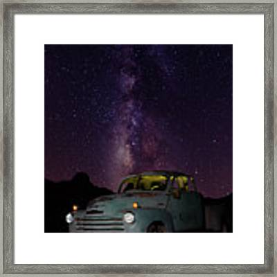 Classic Truck Under The Milky Way Framed Print by James Sage