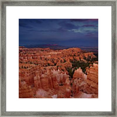 Clearing Storm Over The Hoodoos Bryce Canyon National Park Framed Print by Dave Welling
