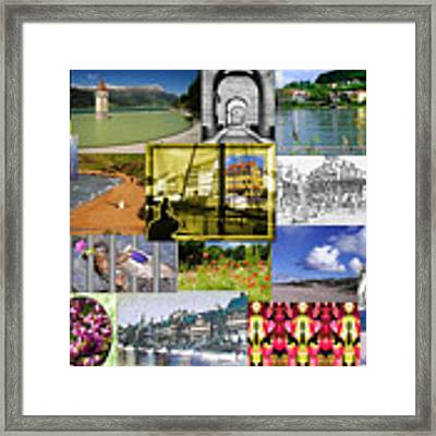 Collage Photography 1999-2009 By Sascha Meyer - Without Border Framed Print by Sascha Meyer