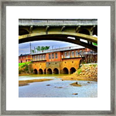Columbia Canal At Gervais Street Bridge Framed Print by Lisa Wooten