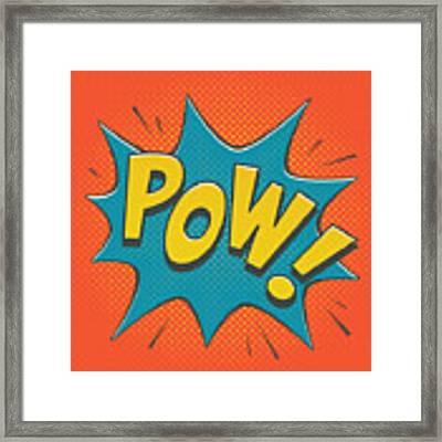 Comic Pow Framed Print by Mitch Frey