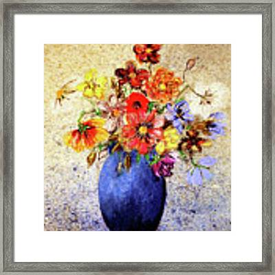 Cornucopia-still Life Painting By V.kelly Framed Print by Valerie Anne Kelly