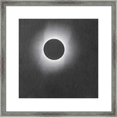 Corona Of The Sun During A Solar Eclipse Framed Print by Artistic Panda