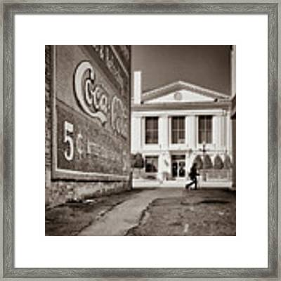 Courthouse Alley - Laurens, Sc Framed Print by Samuel M Purvis III