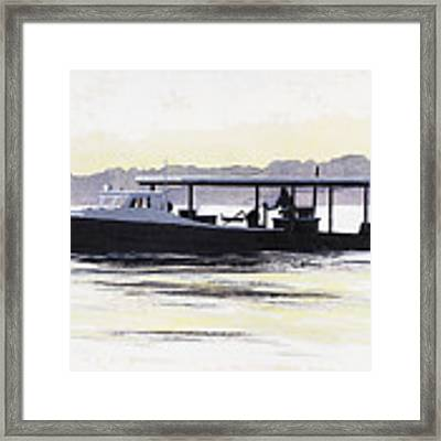 Crab Boat Slick Calm Day Chesapeake Bay Maryland Framed Print by G Linsenmayer