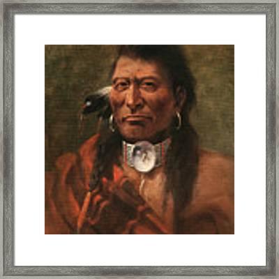 Cree Chief Framed Print by Edgar S Paxson