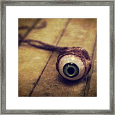 Creepy Eyeball Framed Print
