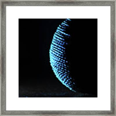Crescent Ball In Cyan Framed Print by Scott Cordell