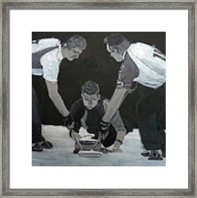 Curling Framed Print by Richard Le Page