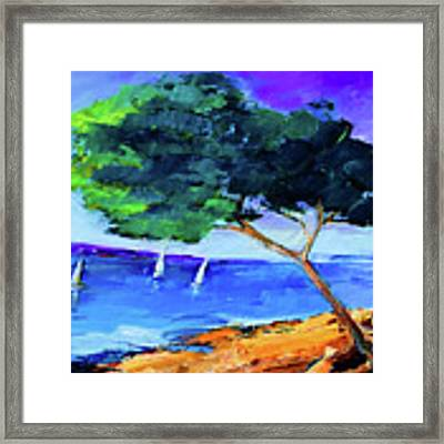 By The Sea Framed Print by Elise Palmigiani