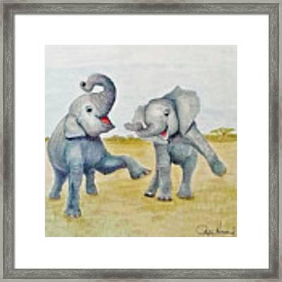 Dancing Framed Print by Phyllis Howard