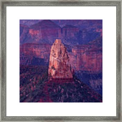 Dawn Mount Hayden Point Imperial North Rim Grand Canyon National Park Arizona Framed Print by Dave Welling