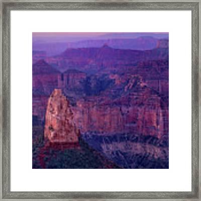 Dawn Mount Hayden Sunrise North Rim Grand Canyon Arizona Framed Print by Dave Welling