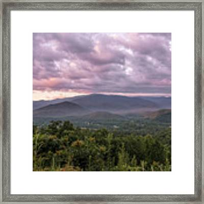 Dawn On The Foothills Parkway Framed Print by Jemmy Archer