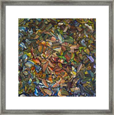 Deconstructed Portrait Of A Woman Framed Print by James W Johnson