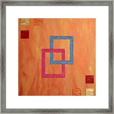 Decorative Squares Framed Print by Sascha Meyer