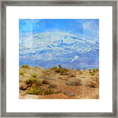 Desert Contrasts Framed Print by Michelle Dallocchio