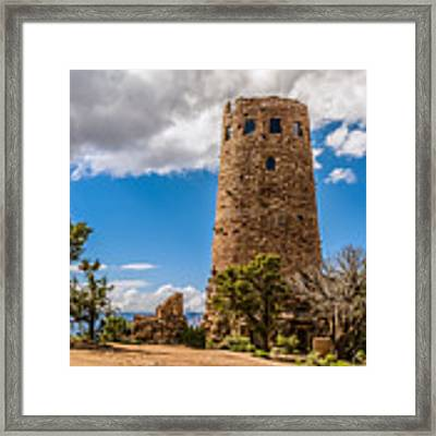 Desert View Tower Grand Canyon Framed Print by Claudia Abbott