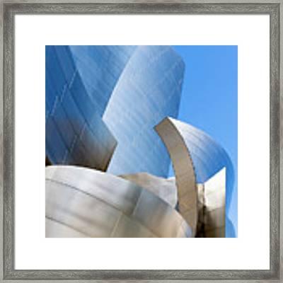 Disney Hall In Blue And Silver Framed Print by Lorraine Devon Wilke