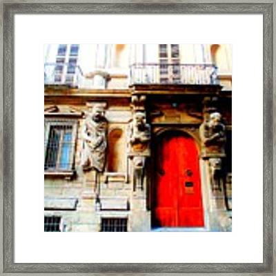 Door To Milan Framed Print by Michelle Dallocchio