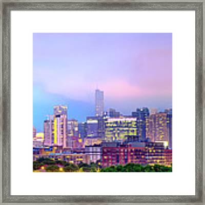 Downtown Chicago Cityscape Skyline Panorama Framed Print by Gregory Ballos