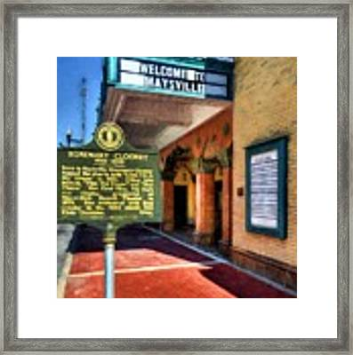 Downtown Maysville Kentucky Framed Print by Mel Steinhauer
