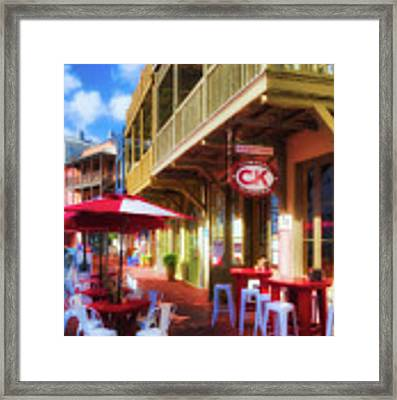 Downtown Rosemary Beach Florida # 2 Framed Print by Mel Steinhauer