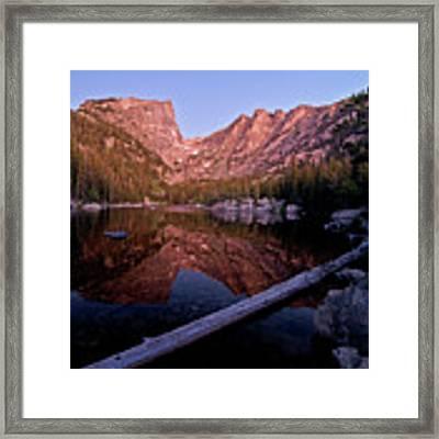 Dream Lake Framed Print by Gary Lengyel