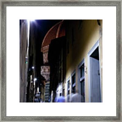 Duomo In The Dark Framed Print by Matthew Wolf