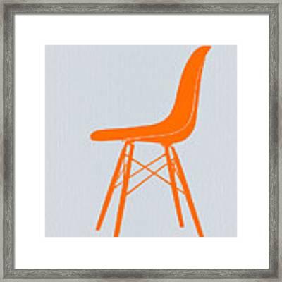 Eames Fiberglass Chair Orange Framed Print