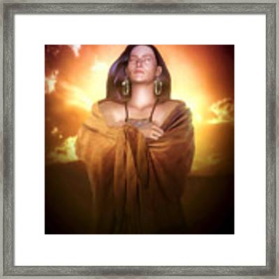 Earth Mother Framed Print by Valerie Anne Kelly