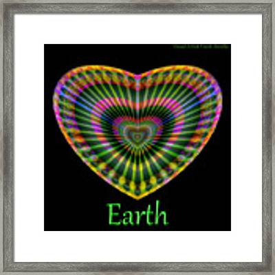 Earth Framed Print by Visual Artist Frank Bonilla