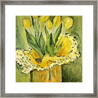 Easter Tulips Framed Print by Maria Langgle