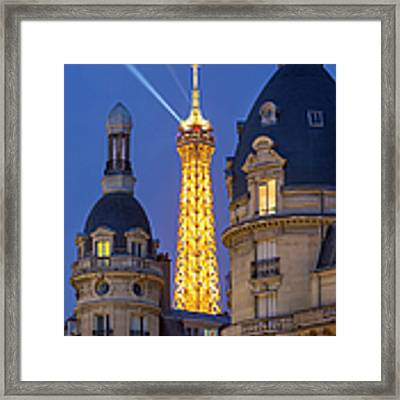 Eiffel Tower From Passy Framed Print by Brian Jannsen