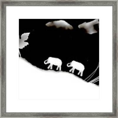 Elephants Framed Print by Sascha Meyer