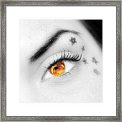 Eclipse And Lashes Framed Print by Scott Cordell